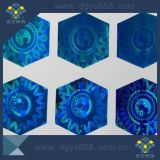 Kundenspezifische Form-blauer Farben-Laser-Aufkleber