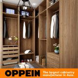 De moderne U-vormige Houten Garderobe van de Slaapkamer van de Kast van de Korrel Walk-in Houten (YG16-M09)
