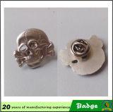 Distintivo all'ingrosso del cranio del metallo di produzione