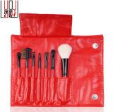 De nieuwe van het Geslacht Rode Kosmetische Make-up Borstels van de Dame 7PCS (met de Zak van het Pakket van Pu)
