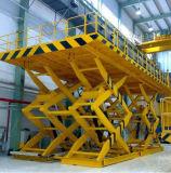 Acero inoxidable tijera eléctrica de elevación de ascensor con alimentación de CA
