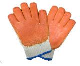 Грубая работая перчатка с резиной или многоточиями