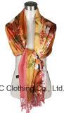 Sciarpa di collo variopinta all'ingrosso della seta delle signore 100%