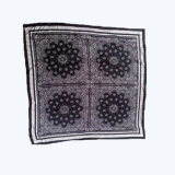 Sciarpa nera magica della signora Fashion Printed Satin Silk