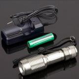 Teleskopische fokussierenfackel mit Li-Ionbatterie