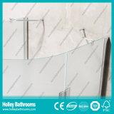 Двойные двери притертого стекла двери Hinger круговые продавая просто приложение ливня (SE713M)