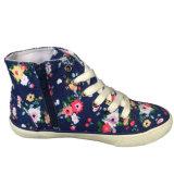 Blumen-Segeltuch-Großverkauf-Fabrik-beiläufiger Segeltuch-Schuh mit Gummisohle