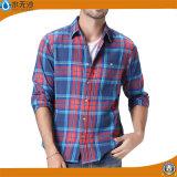 Chemise de robe occasionnelle de chemise de coton de luxe fait sur commande de Mens de mode longue
