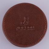 供給の高品質の最もよい価格の円形のブラウンの革コースターセット