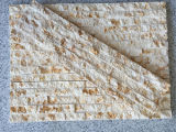 Pietra spaccata della coltura del fronte del nuovo marmo beige di disegno della Cina
