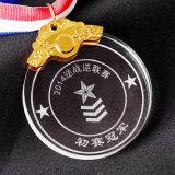 Premio redondos de encargo Mini Crystal personalizada Medalla de vidrio y medallón