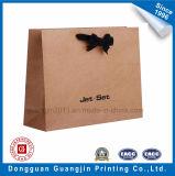 Packpapier-Einkaufstasche Qualitätbrown-Mit dekorativem Bowtie