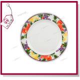 '' piatto di ceramica 8 con l'orlo e fragola rossa da Mejorsub