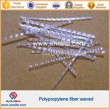 Pp.-Polypropylen Undee bewog Faser für konkreten Kleber-Fußboden-Wand-Kleber-Vorstand-Aufbau wellenartig
