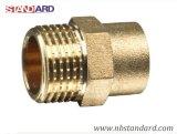 Messingnippel für Rohrleitung/Messinggewinde-Befestigung für Rohr