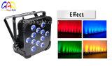 12X10W 4in1 RGBW LED 배터리 전원을 사용하는을%s 가진 편평한 동위 빛
