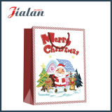 Papel de arte laminado brilhante Merry Christmas Shopping Gift Paper Bag