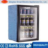 Refrigerador de vidro do indicador da porta da bancada mini