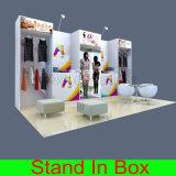 Cabine de salon d'exposition incurvée par luxe professionnel de la coutume DIY