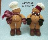 서 있는 진저브레드 한 쌍, 2 Asst 크리스마스 훈장