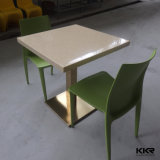 Kingkonree Solid Surface 4 Seaters Mesa cadeira e mesa de café