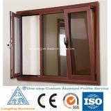 Profil en aluminium en bois pour Windows et la porte Windows en aluminium en bois