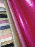 Caliente-Vendiendo el cuero del brillo de la chispa para el material de los muebles de la parte superior de zapatos (HS-G1)