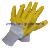 Вкладыш блокировки хлопка, покрытие латекса, пульсация введенная в моду перчатка отделки Crinkle