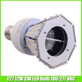Bombilla de maíz blanco cálido 12 vatios LED para la iluminación Yard