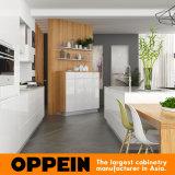 Лака высокого качества Oppein мебель кухни самомоднейшего шикарного деревянная (OP16-L07)
