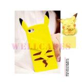 Caisse Pocket en gros de téléphone de jupe de silicones de Moster Pikachu pour l'iPhone 4/5/6/6plus