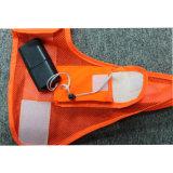 Gilet r3fléchissant de clignotant de sûreté de la visibilité élevée faite sur commande LED de Deisgn