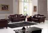 Sofa Set를 위한 Genuine Leather Couches를 가진 고아한 Sofa