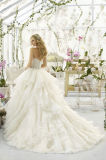 Nuovo Style Lace Cap Sleeve High Neck Princess A - riga Wedding Dress