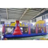 Parcours d'obstacles gonflable pour enfants gigiant laminé pour parc d'attractions
