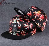 Chapéu do Snapback da flor com borda lisa