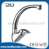 Miscelatore d'ottone del rubinetto del dispersore di cucina di finitura del bicromato di potassio della leva della stanza da bagno singolo