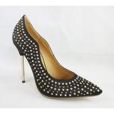 Chaussures de talon haut en métal avec les diamants supérieurs