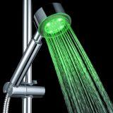 Cabeça de chuveiro sanitária do ABS dos mercadorias do banheiro chinês com luz do diodo emissor de luz