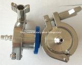 """Válvula de verificação sanitária inoxidável do sopro do ar do aço 316L, 1 """" câmara de ar Od de desconexão rápida"""