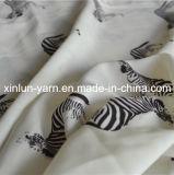 Tessuto chiffon sexy stampato leopardo di tocco morbido per la signora