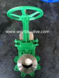 Válvula de porta da faca do aço de carbono do atuador pneumático (WDS)