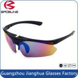 La pesca de ciclo polarizada capítulo negro superior de la lente de las gafas de seguridad de la soldadura Anti-UV400 que va de excursión viajar levanta para arriba el abrigo alrededor de las gafas de sol