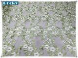 Ткань шнурка ткани одежды цветка для платья девушки