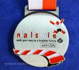 Médaille courante de gagnant de marathon de sport fait sur commande avec la bande (M-03)