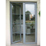 Glas Kz064 mit Rasterfeld-Puder-überzogener Aluminiumprofil-Flügelfenster-Tür
