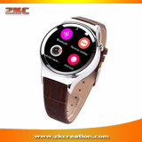 T3 circular Smartwatch de Dial com SIM SD Card Support Detection UV