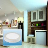 2016 luz de painel de alumínio quente do diodo emissor de luz da venda 6W-24W/para baixo luz