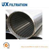 Filtro para pozos resistente a la corrosión de Johnson para la filtración líquida