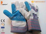 Перчатки Спилковые Комбинированные Пятипалые Рабочие Перчатки(DLC321)